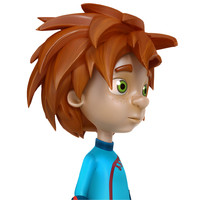 kid child boy 3d model