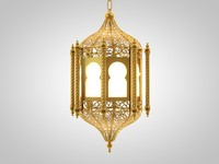3d arabic lantern lighting