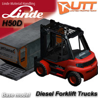 linde forklift trucks h50 3d model