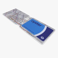 3d model oyster card wallet london underground