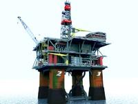 3d model of platform oil rig