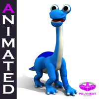 cartoon diplodocus 3d model