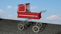carriage stroller 3d obj