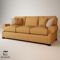 roll arm sofa 3d max