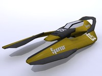 racing ship 3d model