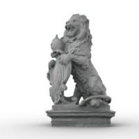 maya lion statue