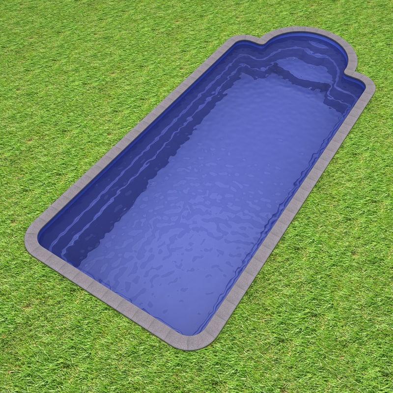 Plastic pool 3d max for Plastic pool