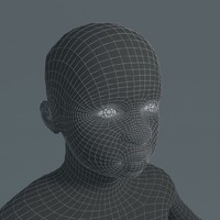 boy black basemesh 3d model