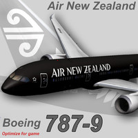 boeing 787-9 air new 3d model