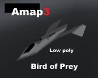 3d bird prey model