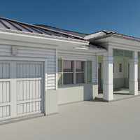 3d model of family residence roof