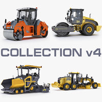 road construction compactor 3d model