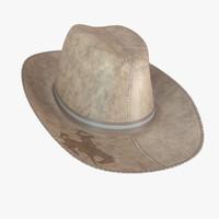 3d model cowboy hat