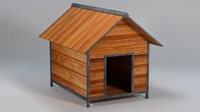 Low Poly Doghouse (Gardens, Parks, Game Asset)
