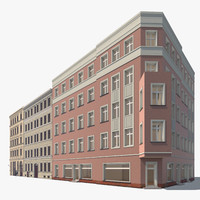 3d apartment buildings berlin model