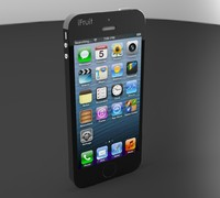 3d model iphone 5s phone