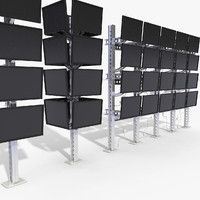 Mounted LCD Monitors Structure