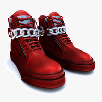 red shoes 3d model