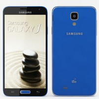 samsung galaxy j blue 3d model