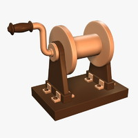 3d model cartoon ship winch
