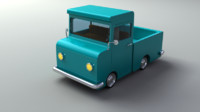 rigged truck 3d model