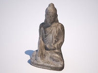 scanned budda 3d model