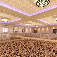 3d model ballroom hotel architecture