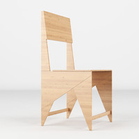 chair realistic 3d obj