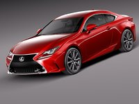 2015 lexus rc 3d model