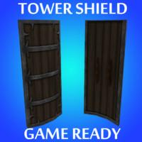 3dsmax tower shield