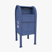 3d model of mailbox mail box