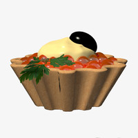 tartlet caviar 3d model