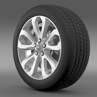 rangerover vogue sdv8 wheel 3d model