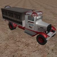cargo truck old 3d model