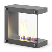 Metal Gas Fireplace