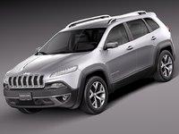 3d 2014 jeep cherokee model