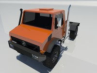 3d mercedes-benz unimog u435 truck vehicle