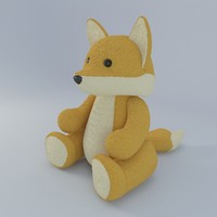 plush fox toy 3d max