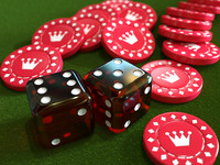 casino dice chip 3d lwo