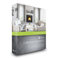 CGAxis Models Volume 45 Fireplaces MentalRay
