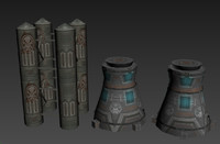 3d pack sci-fi machine model