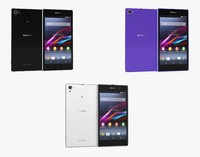 sony xperia z1 colors 3d model