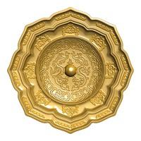 maya chinese plate gold