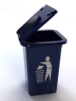 trash recycling bin 3d model