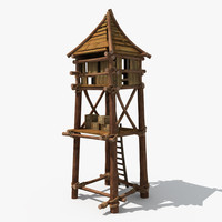 3ds max guard tower