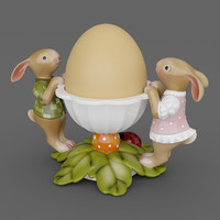 smax egg cup leaves bunny