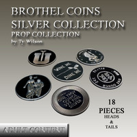 3d model of silver brothel coins