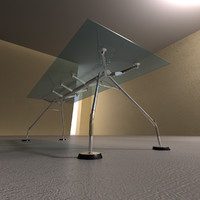 nomos norman foster glass table 3d model