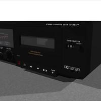 cassette tape deck 3d c4d