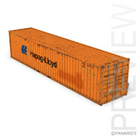 40ft shipping container hapag 3ds